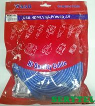 Cable de red  rj45 azul de 20m-66f  certificado Wash wnw-c5-20